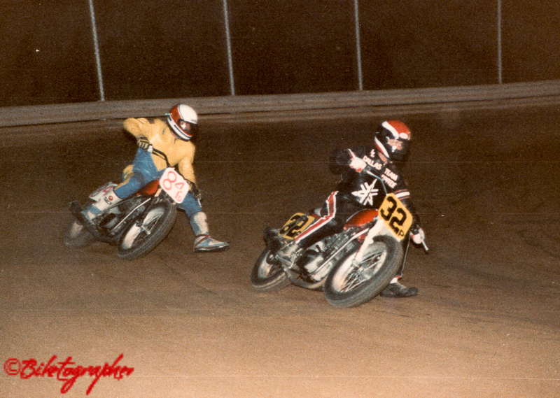 Alan Dewey trying to catch up to Dallas Mayer in Marion, Illinois. Probably 1988