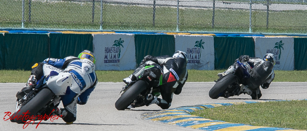 GTU Experts in turn 7 at Homestead Speedway CCS Motorcycle Races