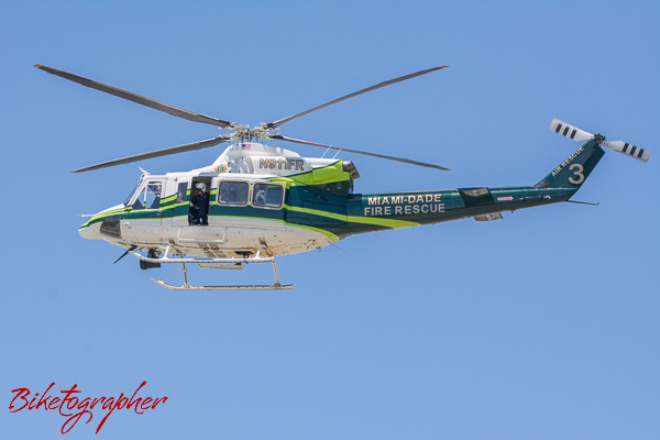 Dade County Fire Rescue Helicopter at Homestead Motor Speedway